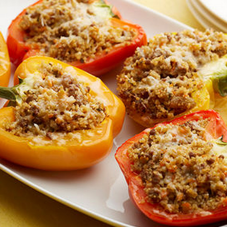 Sweet and Sour Couscous-Stuffed Peppers Recipe | Yummly