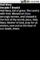 Screenshot of Mobile Rosary