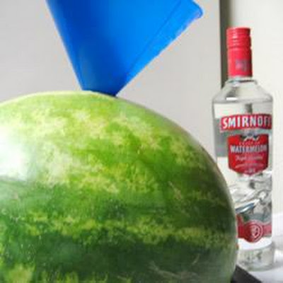 Rum-soaked Watermelon