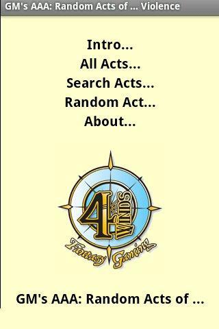 Random Acts ... Violence