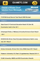 Screenshot of Exam Results