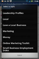 Screenshot of Small Business Blog