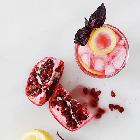 Pomegrante & Purple Basil Gin Smash