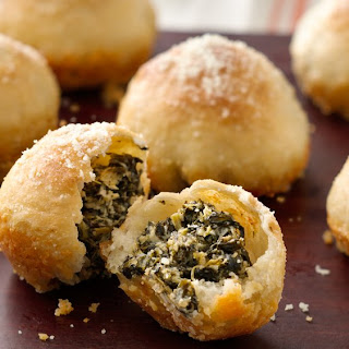 Spinach Dip-Stuffed Garlic Rolls