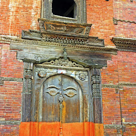 Door and Window by Jaliya Rasaputra - Buildings & Architecture Homes ( window, door, nepal,  )