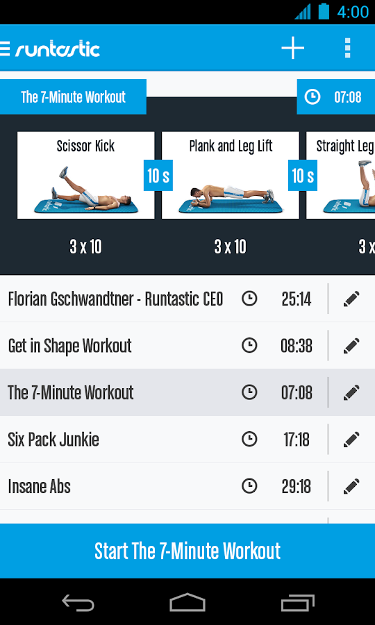 Runtastic Six Pack Ab Workout Screenshot 4