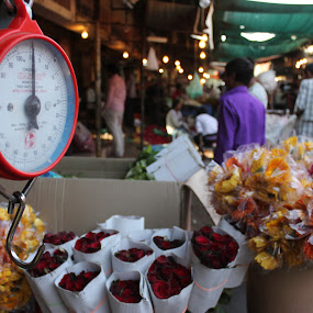 Scale by Thakkar Mj - City,  Street & Park  Markets & Shops ( scale, weighing scale, weight, market, flower,  )
