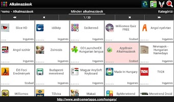 Screenshot of Hungarian applications