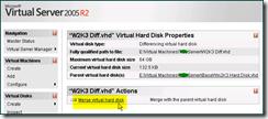Virtual Server 2005 R2 Merging Disk