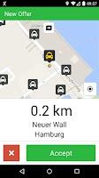 Screenshot of mytaxi Driver App