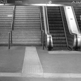 Solitudine by PATRIZIA ZITELLI - City,  Street & Park  Street Scenes ( rome, metro, street, train, city, , Urban, City, Lifestyle )