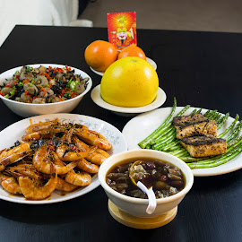 chinese new year by Elaina Edzahar - Food & Drink Cooking & Baking ( dinner, friends, family, food, gathering, cooking, chinesenewyear, chinesenewyeareve, meal, dessert )