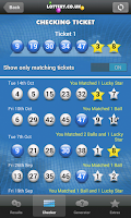 Screenshot of National Lottery Results