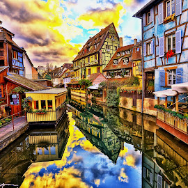 Colmar, France by Hansen Christian - City,  Street & Park  Street Scenes ( canon, hdr, france, river, city, colmar )