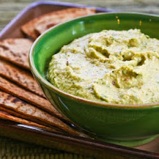 Parsley Hummus with Whole Wheat Pita Chips