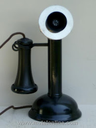Candlestick Phones - Chicago Oil Can Base 2 Candlestick Telephone 1