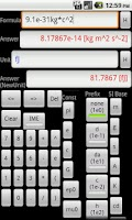 Screenshot of Text Scientific Calc