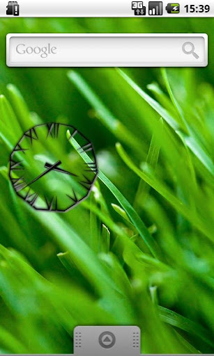 Black Icicle Transparent Clock