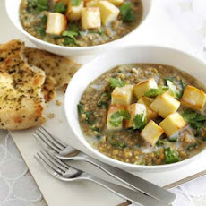 Spinach Dhal With Paneer