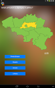 TopoTrainer BE - Geography - screenshot