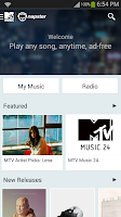 Screenshot of MTV Music powered by Napster