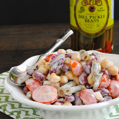 Three Bean Salad with Yogurt-Buttermilk Dressing