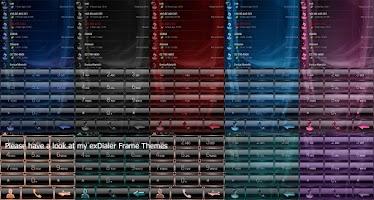 Screenshot of exDialer GlassMetalFrameBOrang