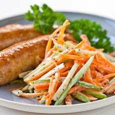 Chicken Sausage with Apple Slaw Recipe