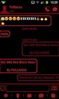 Screenshot of GO SMS Theme Dark Red Black