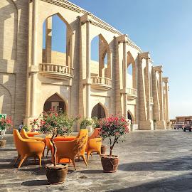 Katara hangout  by Nashira Usef - Instagram & Mobile iPhone ( kataraqatar, building, arch, exterior, doha, qatar, architecture, iphone, culture )