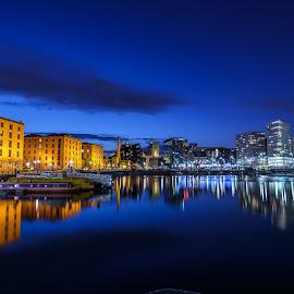 Blue Glass by Louis Smith - City,  Street & Park  Skylines