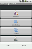 Screenshot of Simple Weight Control