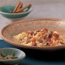 Sweet Orange Couscous with Dried Fruit