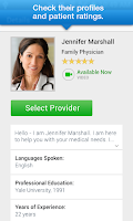Screenshot of LiveHealth Online Mobile