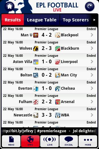 epl-football-live for android screenshot