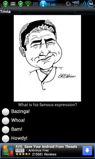 Caricature Trivia Game