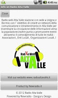 Screenshot of Radio Alta Valle