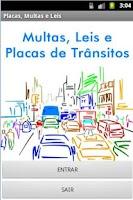 Screenshot of Multa, Lei e Placa de Transito