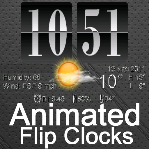動畫數字時鐘與天氣 天氣 App LOGO-APP試玩
