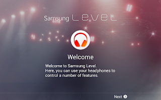 Screenshot of Samsung Level for Tablet