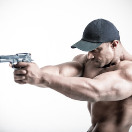 Big Guns by Jack Michael - Sports & Fitness Fitness ( fitness, sports, poster, big guns, men, portrait, body building )