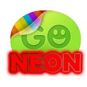 Red neon GO SMS Pro theme icon