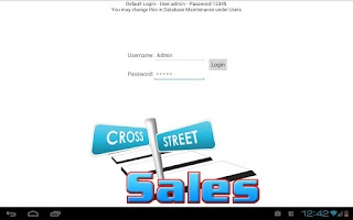 Screenshot of CrossStreet Sales Catalog DEMO
