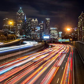 Atlanta by Shalabh Sharma - City,  Street & Park  Night