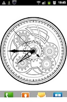 Screenshot of Clock Blueprint Wallpaper