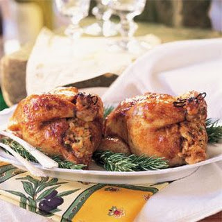 Young Chickens with Apricot-Fig Stuffing (Poussins Farcis aux Abricots et Figues Sèches)