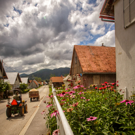 Summer in the mountain village by Stanislav Horacek - City,  Street & Park  Vistas