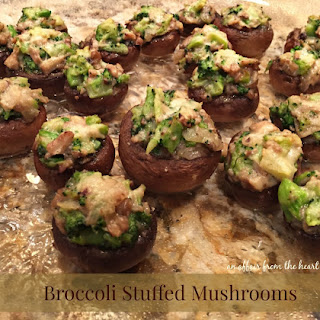 Broccoli Stuffed Mushrooms - One of my MOST FAVORITE appetizers