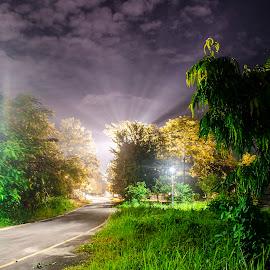 Nightscape...enlighten me by Nibedan Pathak - Landscapes Cloud Formations