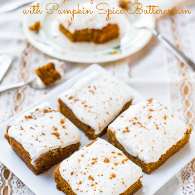 Soft Vegan Pumpkin Cake with Pumpkin Spice Buttercream Frosting